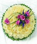 Funeral Flowers Round Tribute